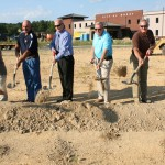 Mayor Joe Lee and the City Council of Moody break ground for the new Library.